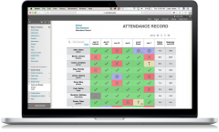 Laptop With Attendance