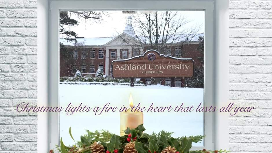 2018 Ashland University Ecard: Christmas lights a fire in the heart that lasts all year