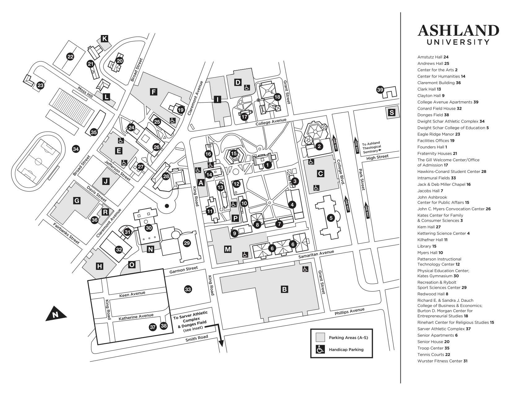 Main Campus Map | Administration | Ashland University