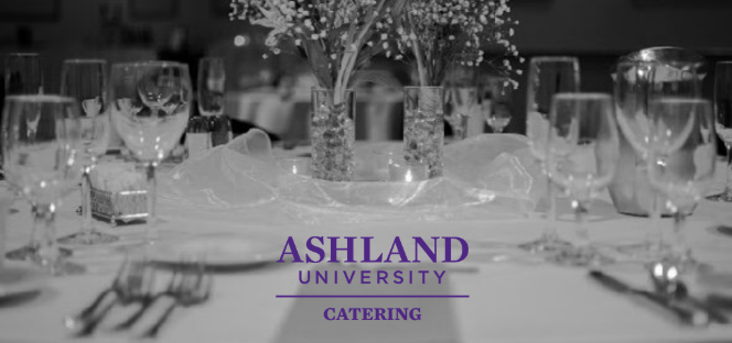 Ashland University Catering, photo of table setting