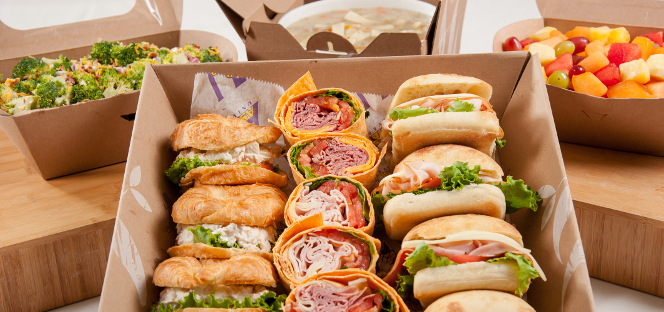 Photo of various sandwiches for the Ashland University Catering & Conferences