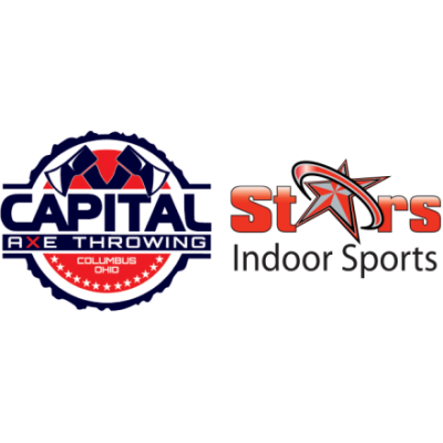 Capital Axe Throwing and Stars Indoor Sports logo