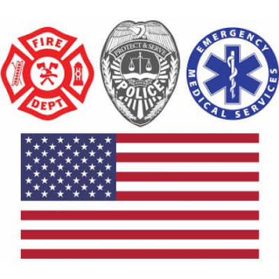 First Responders: Fire, Police, Medical, US Military