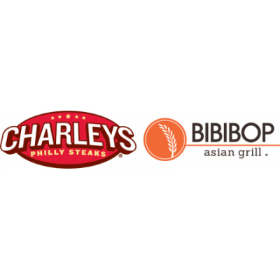 Gosh Enterprises logos for Charley's Philly Steaks and Bibibop Asian Grill
