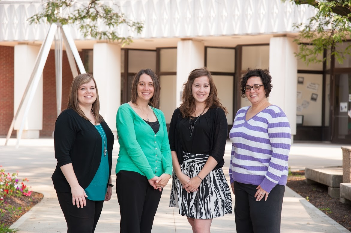 The Advisors in the Center for Academic Support - Megan, Tina, Samantha, & Kelly