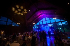 Photo of a reception inside Redwood Hall