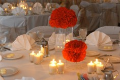 Table setting for a reception