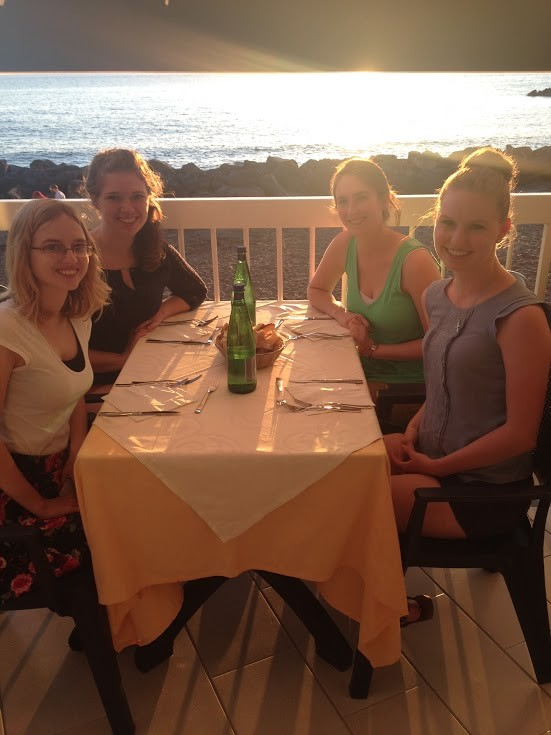 Dinner on the beach in Italy