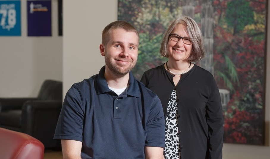 Suzanne Salvo and Justin Beeman - Disability Services Staff