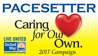 United Way of Ashland County 2017 Campaign Pacesetter - Caring for our own.