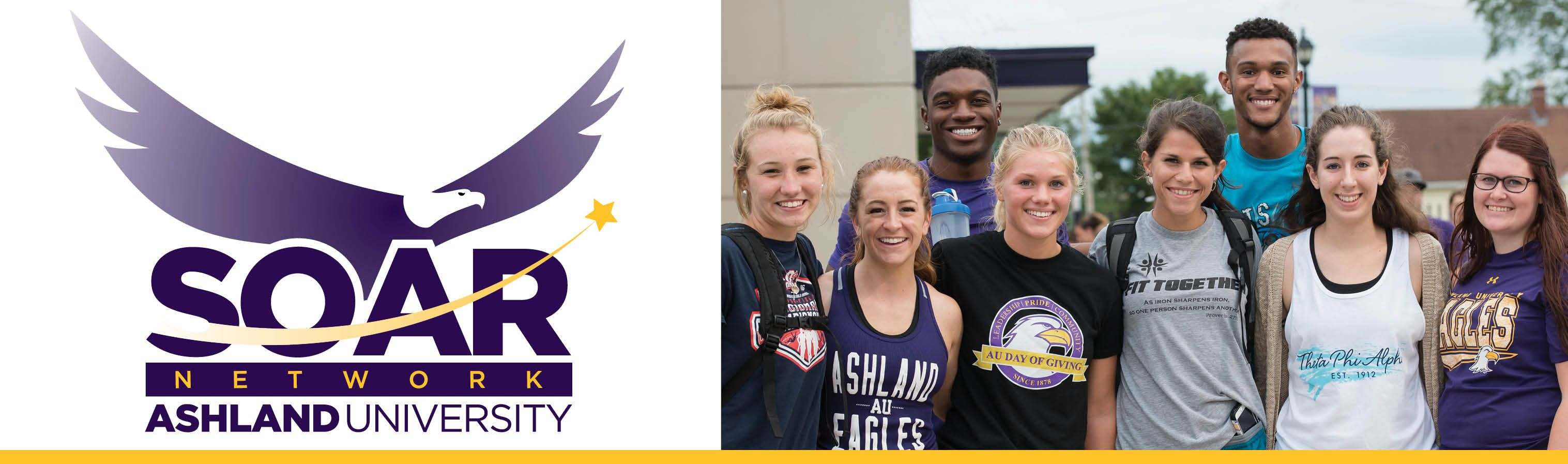SOAR Network banner with eagle and rising star