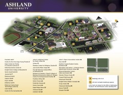 Ashland University Main Campus Map