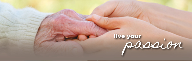 Young hands holding an elderly hand