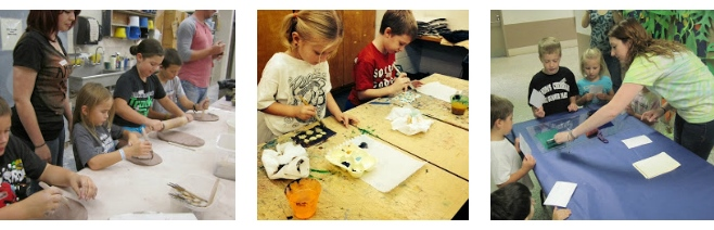 Students help with Art Saturday program