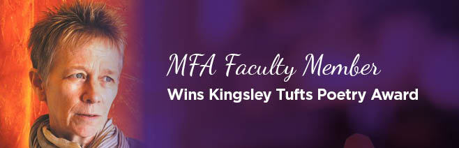 MFA faculty member Angie Estes wins Kingsley Tufts Poetry Award