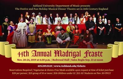 44th Annual Madrigal Feaste Tickets on Sale Sept. 23