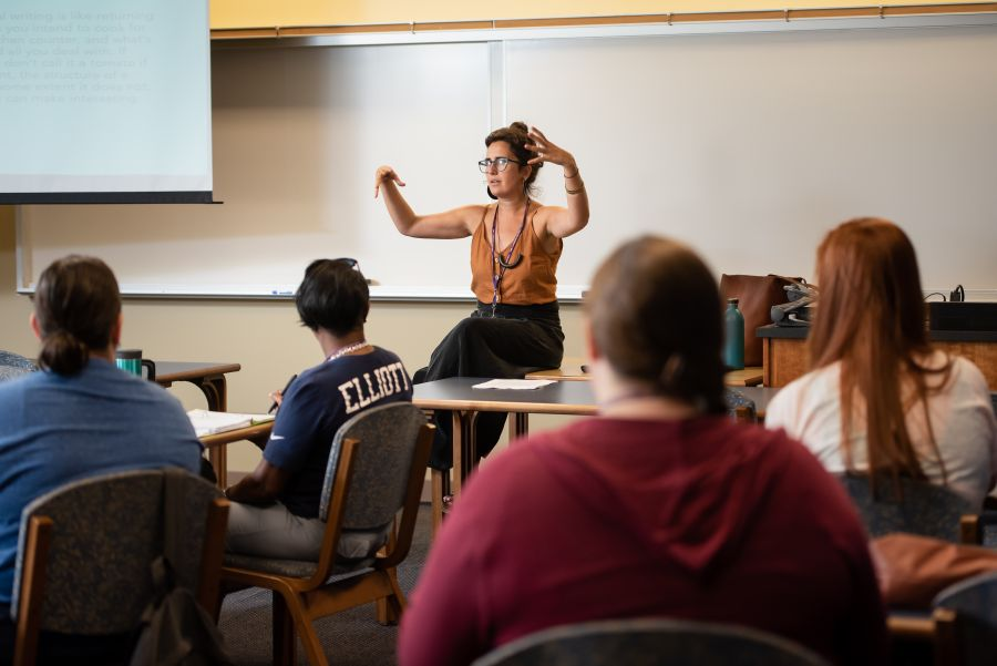 MFA instructor teaching students