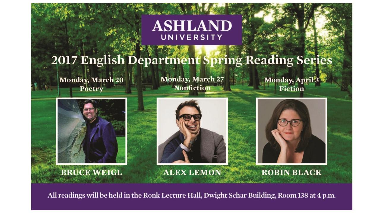 English Department Spring 2017 Reading Series