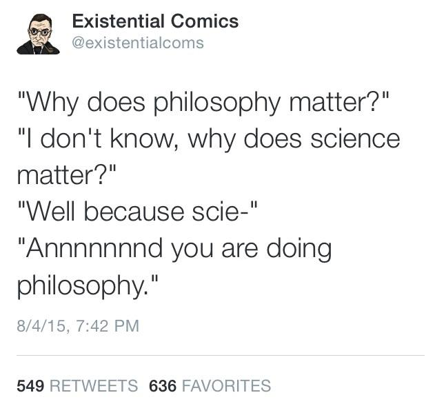 Existential comics, philosophy, science