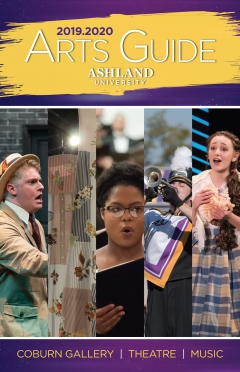 2019.20 Arts Guide cover. Coburn Gallery, Theatre, Music