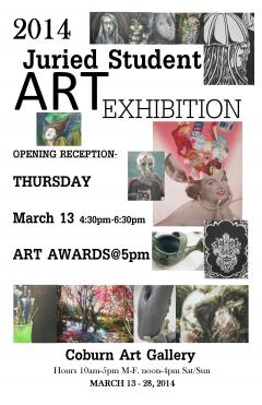 2014 Juried Student Art Exhibition poster