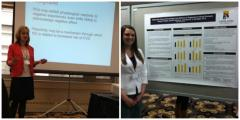 students presenting their research in psychology