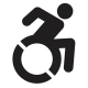 Accessibility icon of wheelchair