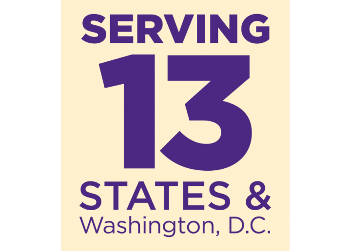 Serving 13 states and Washington D.C.