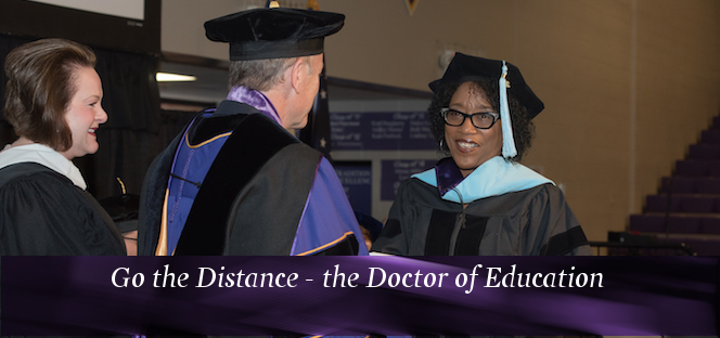 Image of a doctoral student at graduation