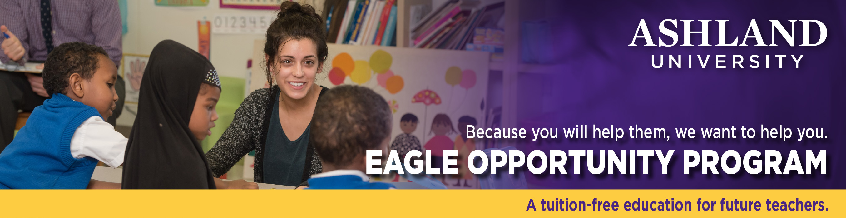 Eagle Opportunity Program - A tuition-free education for future teachers.