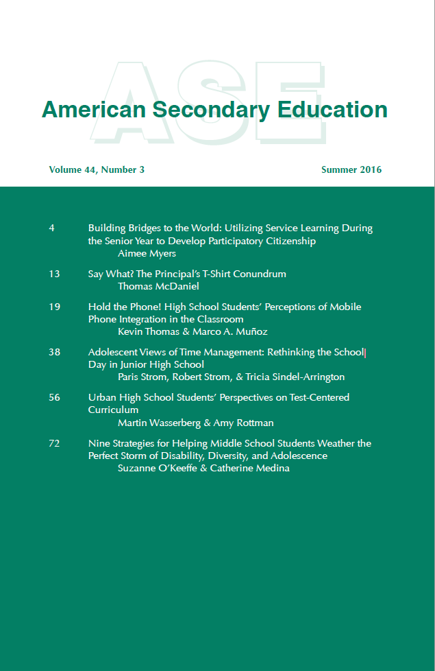 Image of the cover of ASJ.