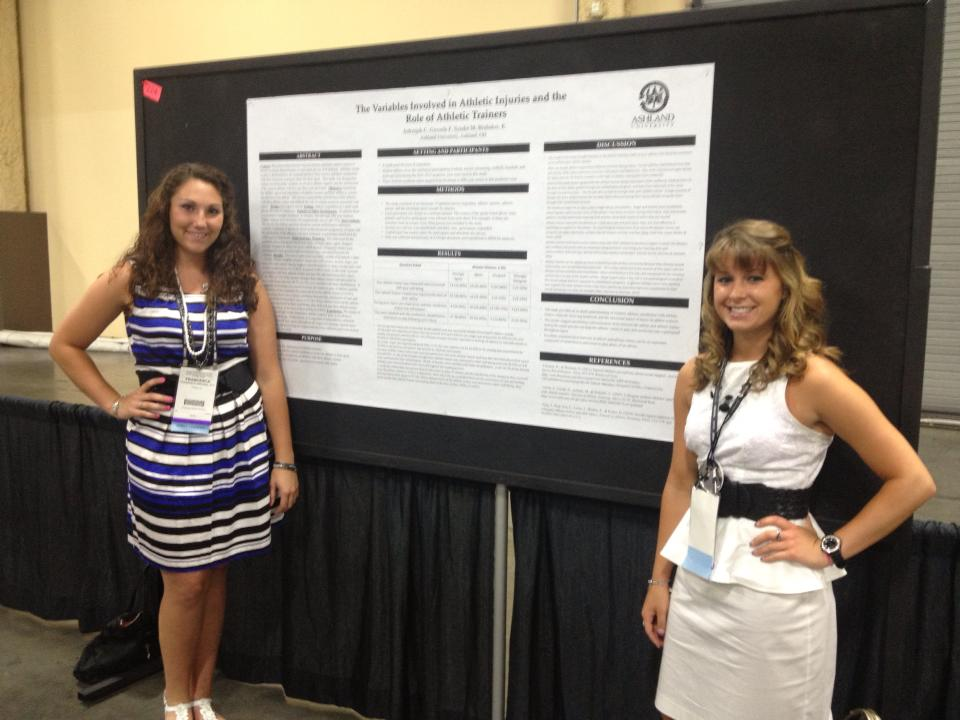 Callie and Franki with Poster at NATA 2013