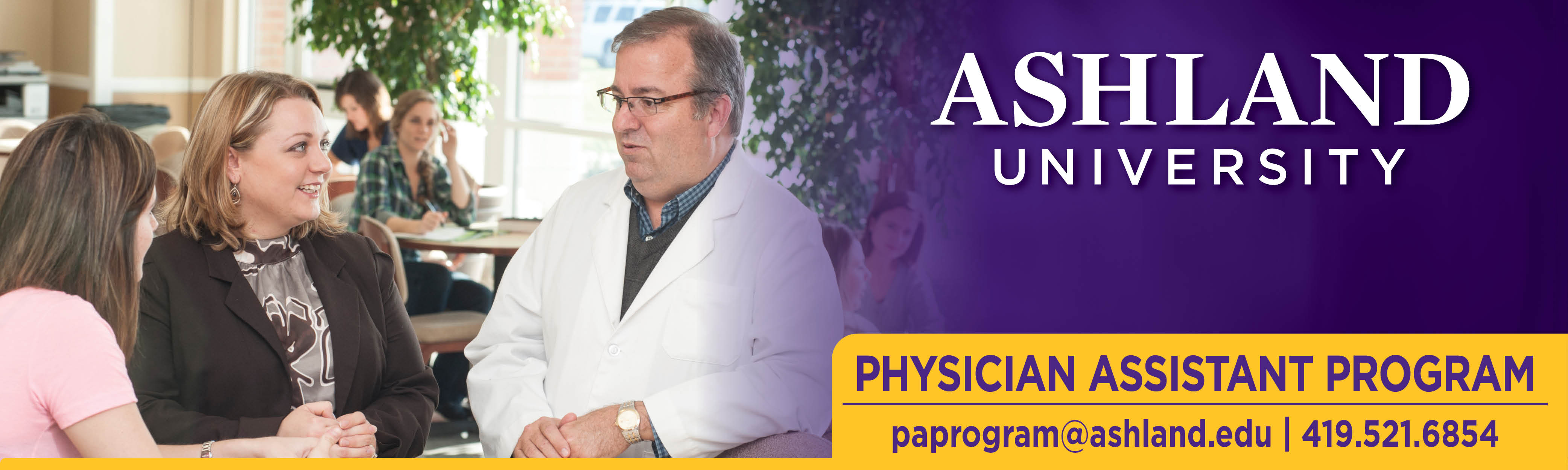 Ashland University Physician Assistant Program - email: paprogram@ashland.edu, phone: 419.521.6854