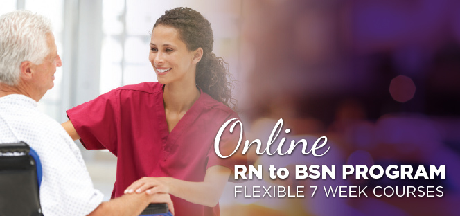 Ashland University's RN to BSN Program. Flexible 7 week courses.