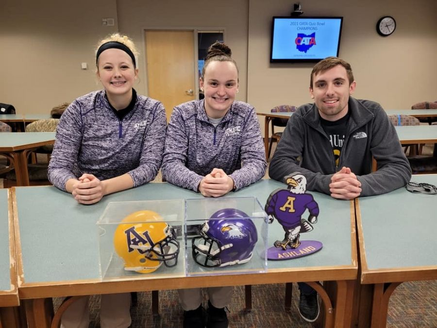 Ashland University quiz bowl team for Athletic Training