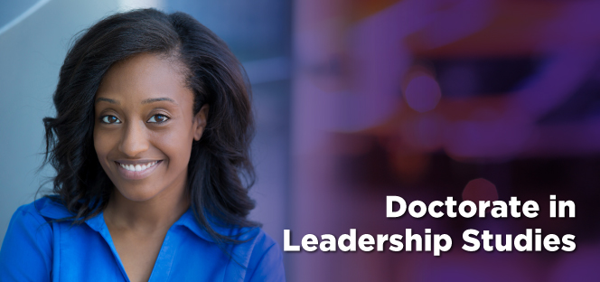 Slideshow image of African American female in Doctorate of Leadership Studies