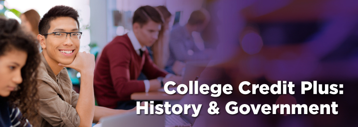 College Credit Plus for Teachers, History & Government Track