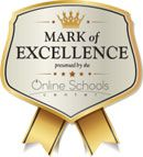 Mark of Excellence presented by the Online Schools Center