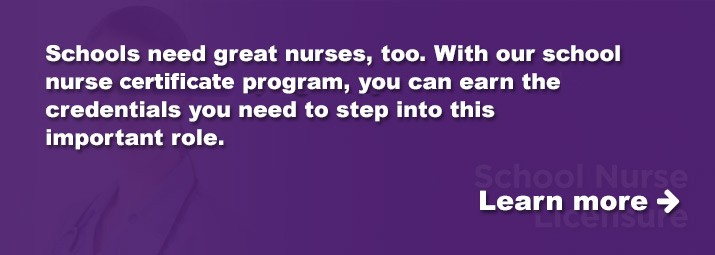 Step into an important role as a school nurse with our school nurse certificate program.