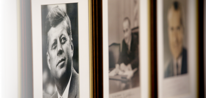 JFK in a picture frame