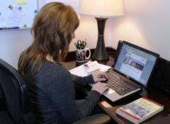 Student at work in Live Online course