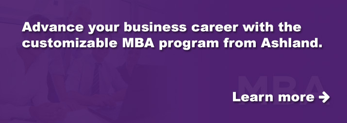 Advance your business career with Ashland's customizable MBA program