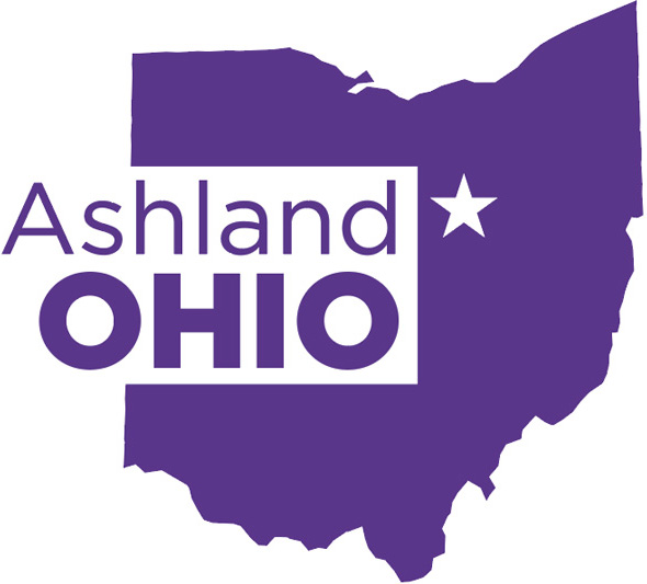 Ohio with a star where Ashland is Located