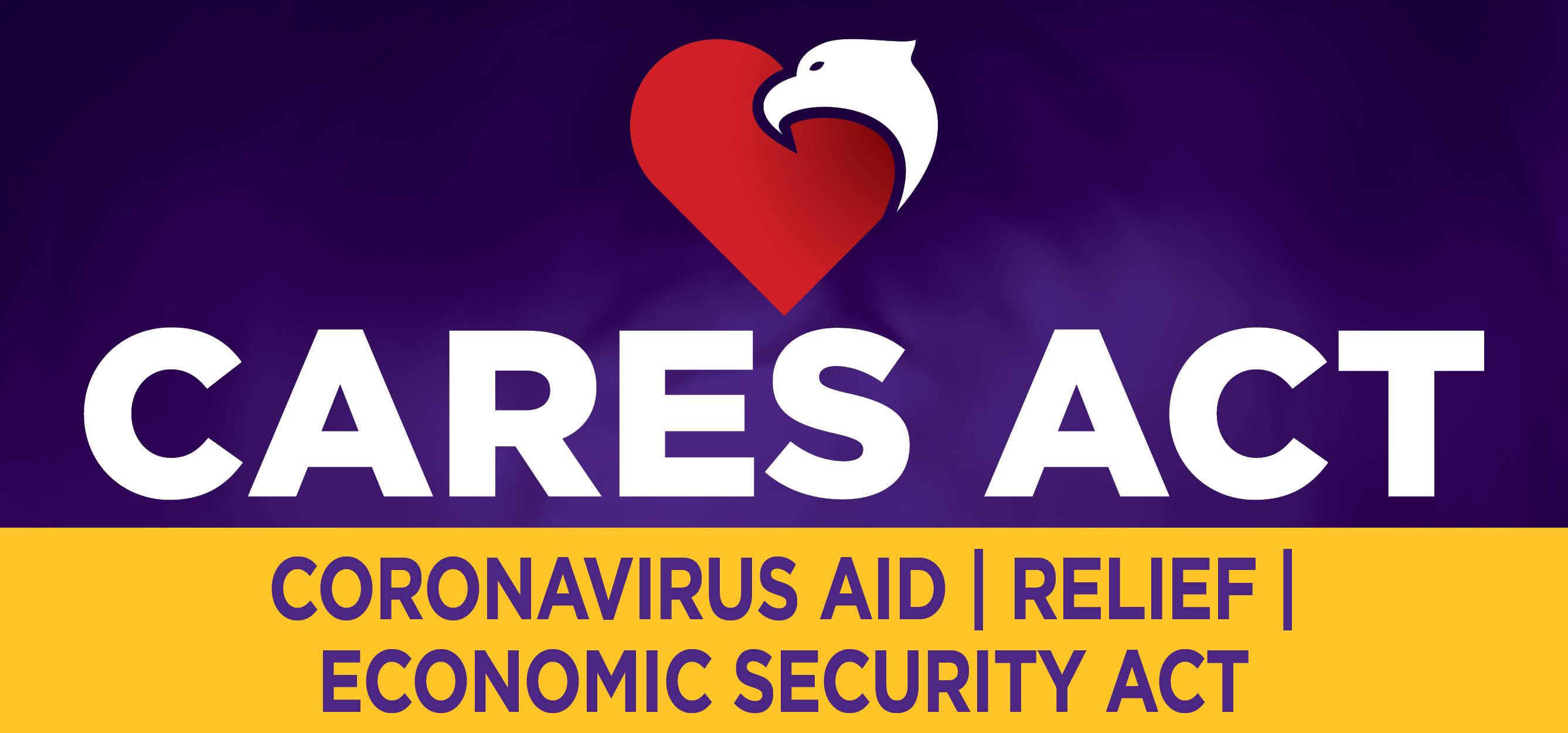 CARES Act heart with eagle logo