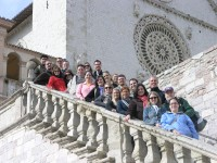 AU students at Assisi