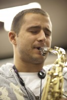Music - Student Playing the Saxophone