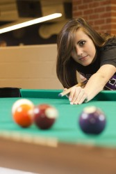 Rec Services - Student Playing Pool