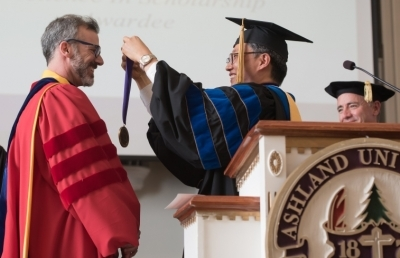 Dr. Mason Posner Receives Ashland University's Excellence in Scholarship Award