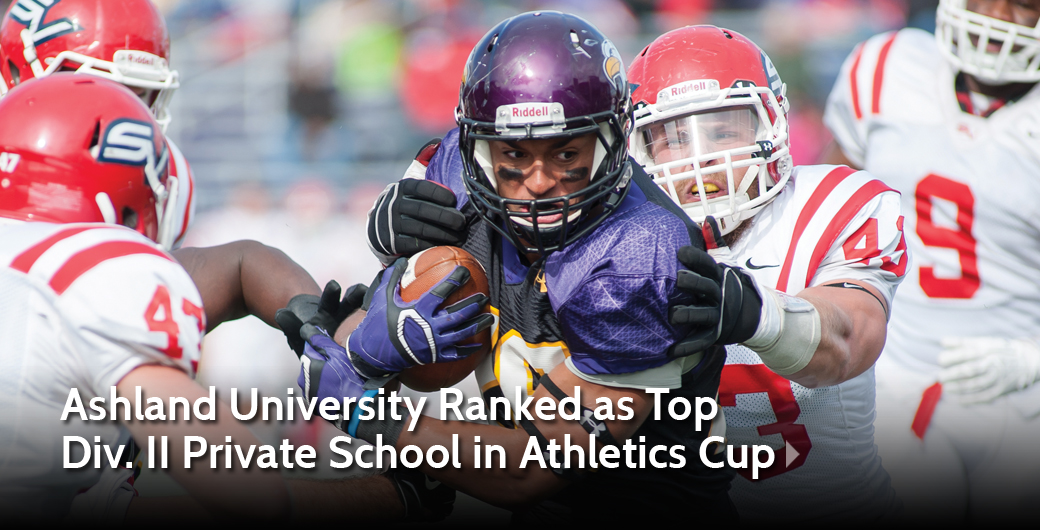 Ashland University Ranked as Top Division II Private School in Sports Directors' Cup