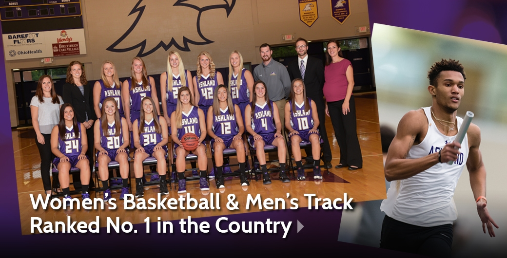 Women's Basketball & Men's Track Ranked No. 1 in the Country